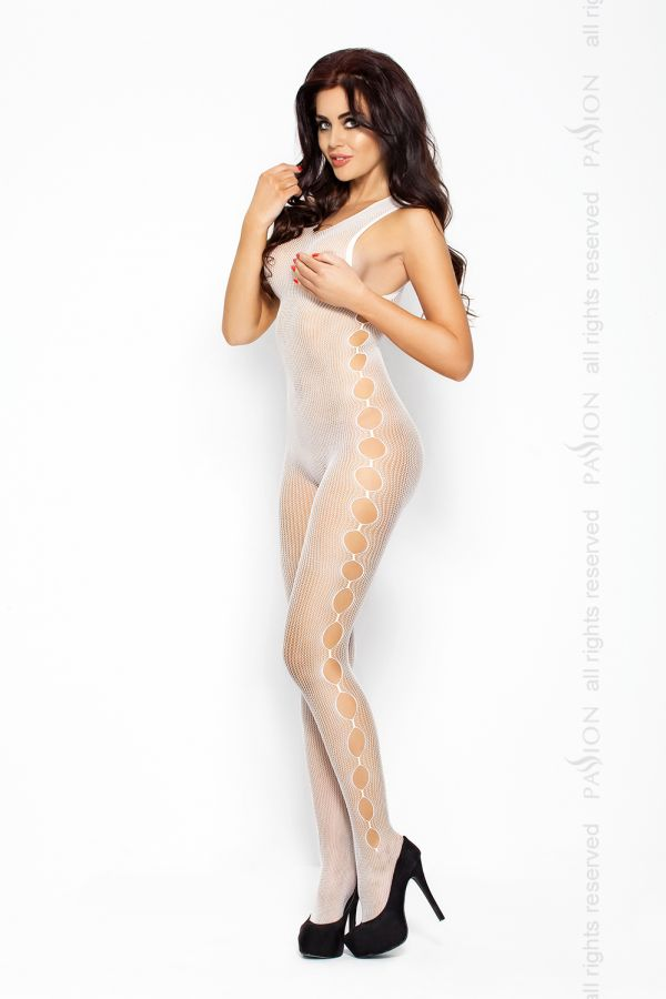 Catsuit Passion BS003 biely