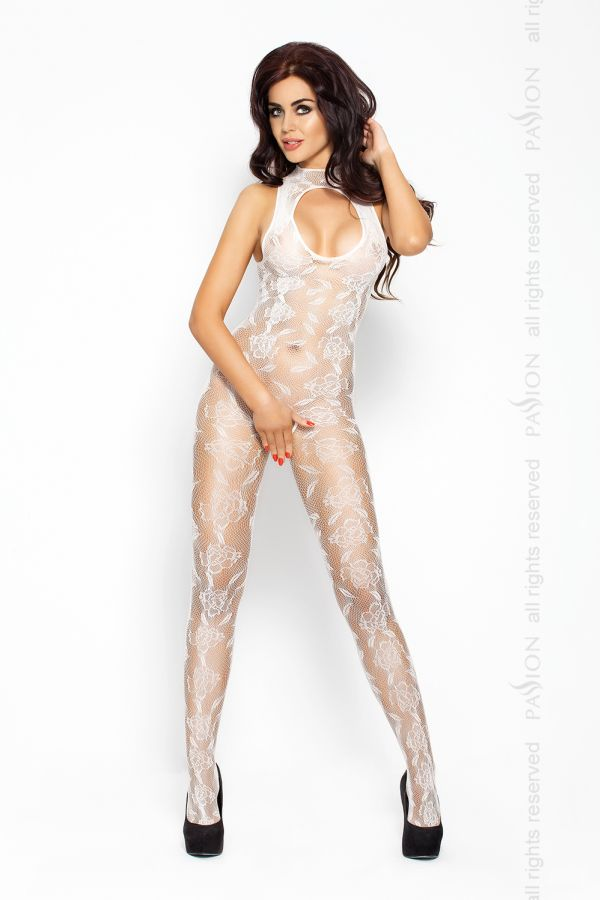 Catsuit Passion BS009 biely