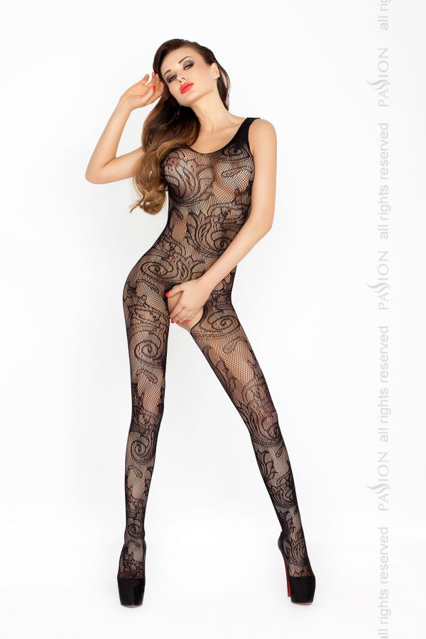 Catsuit Passion BS020 čierny