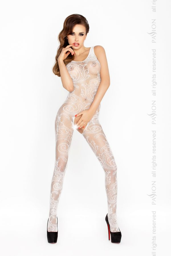 Catsuit Passion BS020 biely