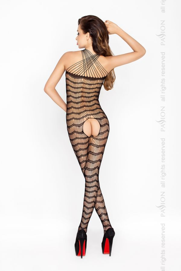 Catsuit Passion BS022 čierny