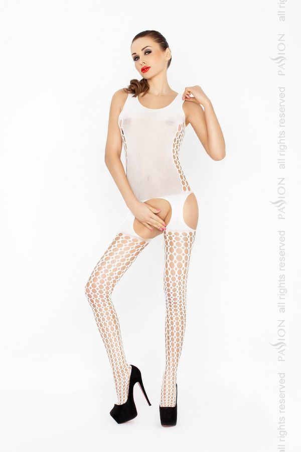 Catsuit Passion BS029 biely