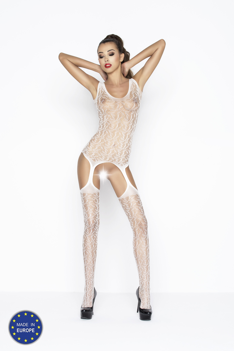 Catsuit Passion BS043 biely