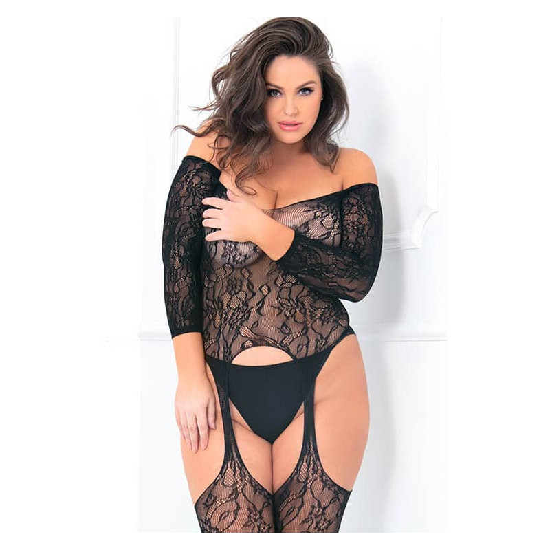 René Rofé Seductive Crotchless Bodystocking Plus Size