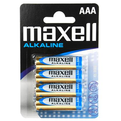 MAXELL BATTERY AAA 4PCS
