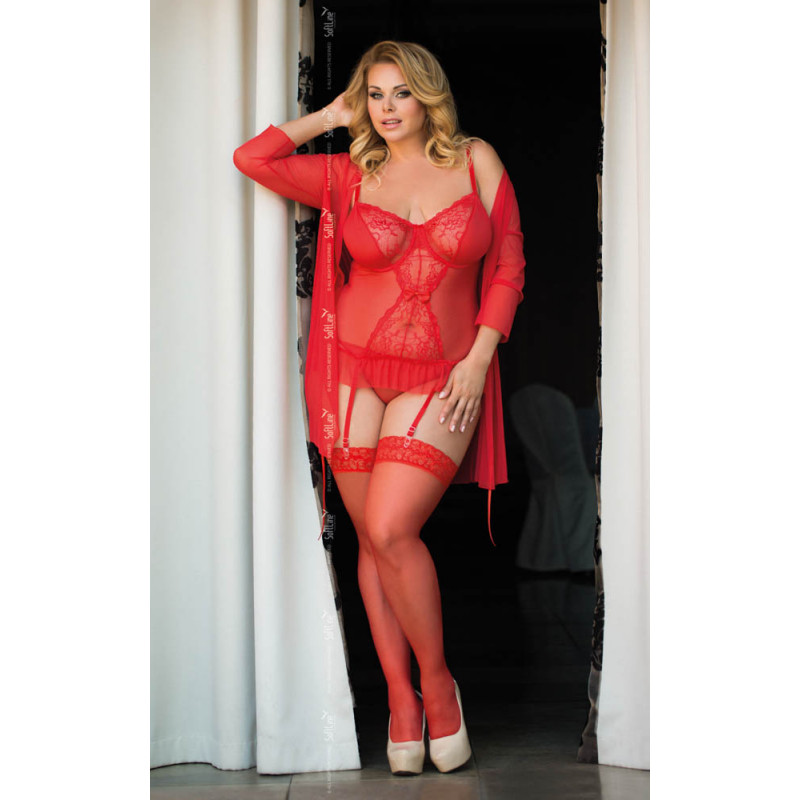 SOFTLINE COLLECTION Dafne - Plus Size - red XL