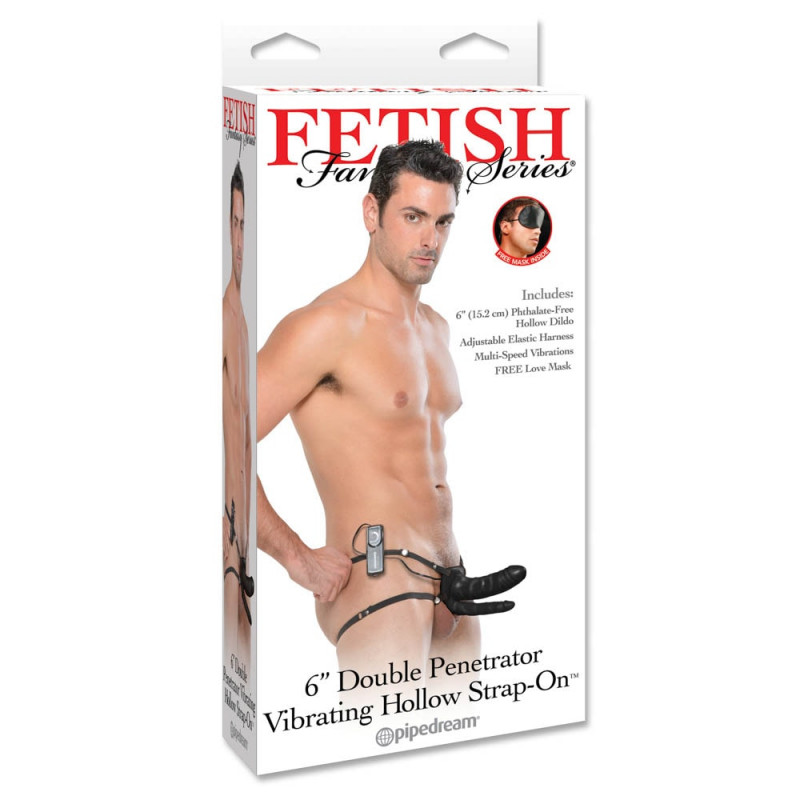 Fetish Fantasy Double Penetrator Vibrating Hollow Strap-on