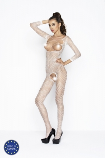 Catsuit Passion BS040 biely