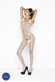 Catsuit Passion BS044 biely