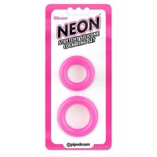 Pipedream Neon Stretchy Silicone Cock Ring Set