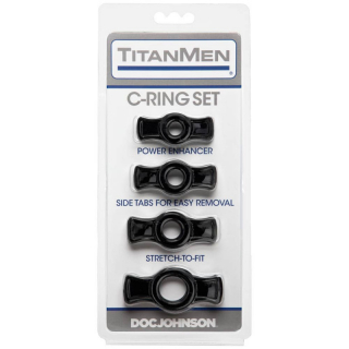Doc Johnson TitanMen COCKRING SET BLACK
