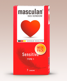Masculan Sensitive WEEK PACK 7ks