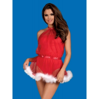 OBSESSIVE - CHRISTMAS SANTASTIC DRESS & THONG
