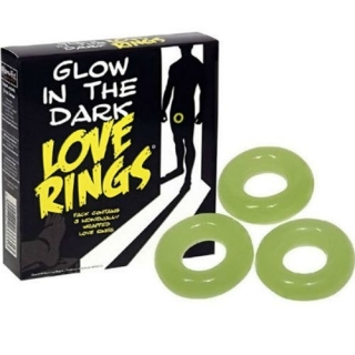 pencer & Fleetwood Glow in the dark Love Rings